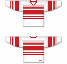 Load image into Gallery viewer, DETROIT RETRO WHITE Lace Neck Pro Blank Hockey Jerseys