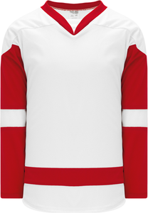 2007 DETROIT WHITE Taper Neck With Underlay Blank Hockey Jerseys