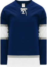 Load image into Gallery viewer, 2002 EDMONTON 3RD NAVY Lace Neck Pro Blank Hockey Jerseys