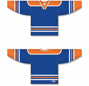 EDMONTON ROYAL Square V-neck With Underlay Pro Blank Hockey Jerseys