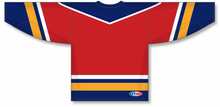Load image into Gallery viewer, FLORIDA RED Flo640 641 V-neck Pro Blank Hockey Jerseys