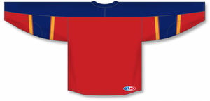 2013 FLORIDA RED Taper Neck With Underlay Blank Hockey Jerseys