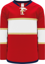 Load image into Gallery viewer, 2013 FLORIDA RED Lace Neck With Underlay Pro Blank Hockey Jerseys