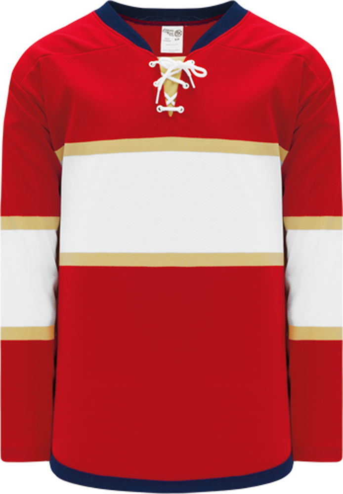 2013 FLORIDA RED Lace Neck With Underlay Pro Blank Hockey Jerseys