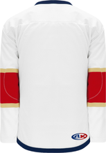 Load image into Gallery viewer, 2016 FLORIDA WHITE Lace Neck With Underlay Pro Blank Hockey Jerseys
