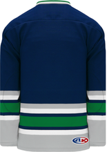 Load image into Gallery viewer, HARTFORD NAVY Sleeve Stripes Pro Blank Hockey Jerseys