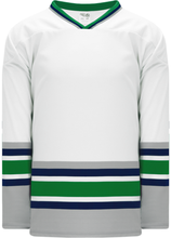 Load image into Gallery viewer, HARTFORD WHITE Sleeve Stripes Pro Blank Hockey Jerseys