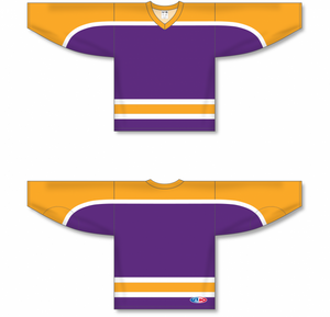 VINTAGE LA PURPLE Pro Blank Hockey Jerseys