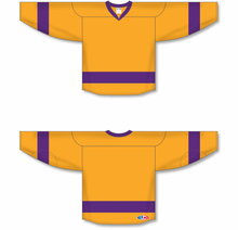 Load image into Gallery viewer, 2014 LA 3RD GOLD Blank Hockey Jerseys