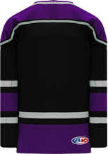 Load image into Gallery viewer, Blank   LOS ANGELES BLACK V-neck  Hockey Jerseys