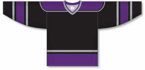 Blank   LOS ANGELES BLACK V-neck  Hockey Jerseys