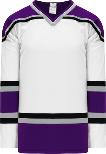 1998 LOS ANGELES WHITE V-neck Pro Blank Hockey Jerseys