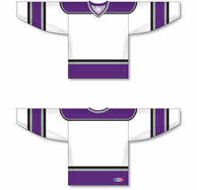 Load image into Gallery viewer, 1998 LOS ANGELES WHITE V-neck Pro Blank Hockey Jerseys