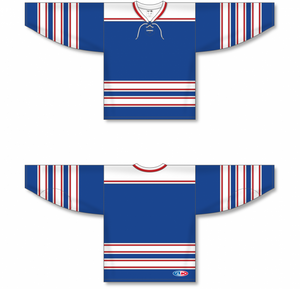 LEGENDS ROYAL Lace Neck Pro Blank Hockey Jerseys