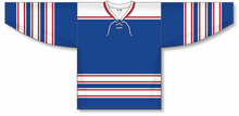 Load image into Gallery viewer, LEGENDS ROYAL Lace Neck Pro Blank Hockey Jerseys