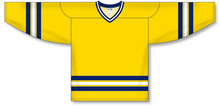 Load image into Gallery viewer, 2011 MICHIGAN MAIZE V-neck Pro Blank Hockey Jerseys