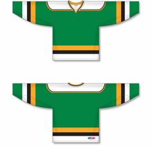 Load image into Gallery viewer, MINNESOTA KELLY WITH BLACK STRIPE Pro Blank Hockey Jerseys