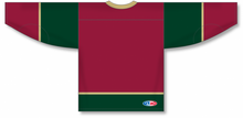 Load image into Gallery viewer, MINNESOTA WILD 3RD AV RED Lace Neck Pro Blank Hockey Jerseys