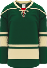 Load image into Gallery viewer, 2009 MINNESOTA 3RD DARK GREEN Pro Blank Hockey Jerseys