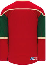 Load image into Gallery viewer, 2007 MINNESOTA RED Lace Neck With Underlay Pro Blank Hockey Jerseys