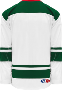 2013 MINNESOTA WHITE Double Shoulders Pro Blank Hockey Jerseys