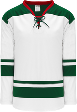 Load image into Gallery viewer, 2013 MINNESOTA WHITE Double Shoulders Pro Blank Hockey Jerseys