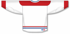 2007 MONTREAL WHITE Blank Hockey Jerseys