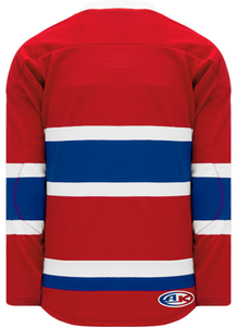 2015 MONTREAL RED Lace Neck With Underlay Pro Blank Hockey Jerseys
