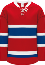 Load image into Gallery viewer, 2015 MONTREAL RED Lace Neck With Underlay Pro Blank Hockey Jerseys