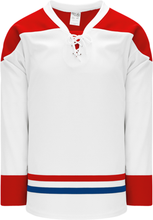 Load image into Gallery viewer, 2015 MONTREAL WHITE Lace Neck With Underlay Pro Blank Hockey Jerseys