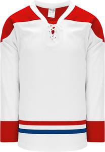 2015 MONTREAL WHITE Lace Neck With Underlay Pro Blank Hockey Jerseys