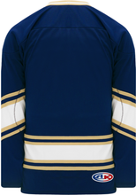 Load image into Gallery viewer, NOTRE DAME NAVY V-neck Pro Blank Hockey Jerseys