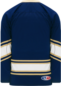 NOTRE DAME NAVY V-neck Pro Blank Hockey Jerseys