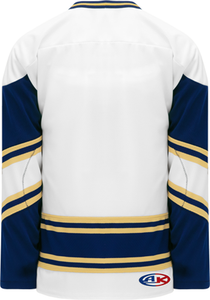 NOTRE DAME WHITE V-neck Pro Blank Hockey Jerseys
