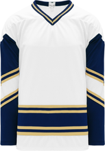 Load image into Gallery viewer, NOTRE DAME WHITE V-neck Pro Blank Hockey Jerseys