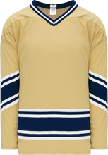 Load image into Gallery viewer, NOTRE DAME VEGAS GOLD V-neck Pro Blank Hockey Jerseys