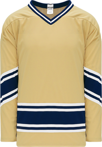 NOTRE DAME VEGAS GOLD V-neck Pro Blank Hockey Jerseys