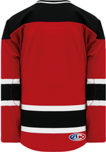 Load image into Gallery viewer, 2007 NEW JERSEY RED Double Shoulders Pro Blank Hockey Jerseys