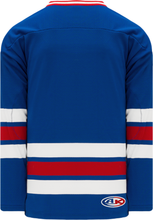 Load image into Gallery viewer, NEW YORK RANGERS ROYAL Sleeve Stripes Pro Blank Hockey Jerseys