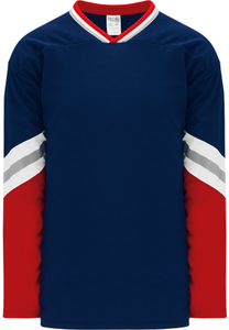 NEW YORK RANGERS 3RD NAVY Crossover V-neck Pro Blank Hockey Jerseys