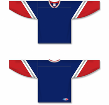 Load image into Gallery viewer, NEW YORK RANGERS 3RD NAVY Crossover V-neck Pro Blank Hockey Jerseys