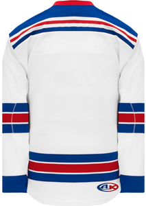 2007 NEW YORK RANGERS WHITE Pro Blank Hockey Jerseys Lace Neck With Underlay