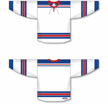 Load image into Gallery viewer, 2007 NEW YORK RANGERS WHITE Pro Blank Hockey Jerseys Lace Neck With Underlay
