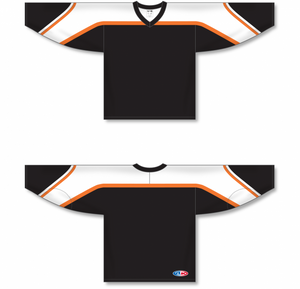 PHILADELPHIA 3RD BLACK Pro Blank Hockey Jerseys