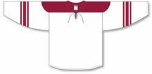 Load image into Gallery viewer, 2007 PHOENIX WHITE Lace Neck With Underlay Pro Blank Hockey Jerseys