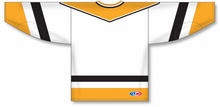 Load image into Gallery viewer, PITTSBURGH WHITE V-neck Pro Blank Hockey Jerseys