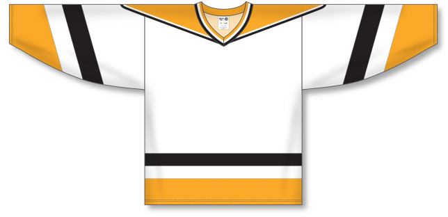 PITTSBURGH WHITE V-neck Pro Blank Hockey Jerseys