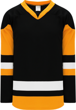 Load image into Gallery viewer, 2014 PITTSBURGH 3RD BLACK Pro Blank Hockey Jerseys