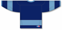 Load image into Gallery viewer, 2011 PITTSBURGH WINTER CLASSIC NAVY Pro Blank Hockey Jerseys