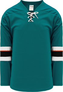 2013 SAN JOSE PACIFIC TEAL Pro Blank Hockey Jerseys